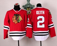Wholesale Duncan Keith Blackhawks Jersey Red Hockey Jerseys High Quality Champion Jerseys Men Sports Jerseys with Stanley Cup Champion Pacth