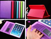 Cheap iPad6 Air2 Cross Patter Leather Wallet Credit Card Slots Stand Smart TPU Cover Case For iPad Air 6 5 4 3 2 Mini Retina Tablet