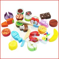 Wholesale Children s toys sticky fruits and vegetables honestly honestly happy to see cut fruit toy play house kitchen toys WJ