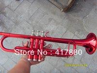Trompeta roja grande del Bb de los instrumentos de cobre amarillo del inventario ytr-1335 de los fabricantes el envío libre