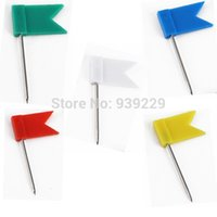 Wholesale Excellent Quality Colour Flag Push Pins Nail Thumb Tack Home Office School Supplies Cork Board Map Drawing FreeShipping
