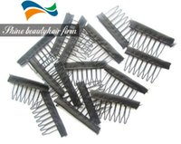 Wholesale Wig Accessories Hair Wig Combs or Clips For Wig Cap Black Color