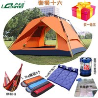 Wholesale Genuine camel outdoor tent person multiplayer automatic tent camping tent four top heightening Package