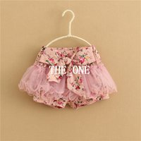 baby bloomers - baby girl short pant for summer baby girl flower shorts baby bloomer shorts Fluffy Pants Tutu Skirt big bow skirt girl children in stock