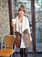 Women Lapel Neck Medium 2016 Europe and the United States New Women's clothes Imitation fur loose armour for a horse vest cardigan Women's clothing NY30