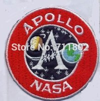 apollo patches - APOLLO NASA Aviation red iron on patches Logo clothes patch coat accessory Badge embroider Appliques