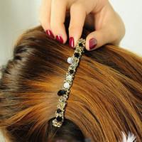 Wholesale 1 New Fashion Women Girls Korean Fashion Crystal Rhinestone Barrette Hairpin Clip Headwear Hair Band Accessories