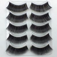 Wholesale 702 Pairs set cheap eyelashes thick eyelashes Faux human hair eyelashes protein human hair eyelashes