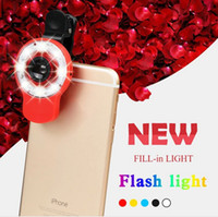 apples leds - Newest in RK09 Beauty Selfie Flash Light With Lens Fill in leds lights For Apple Iphone Plus S S Samsung Galaxy S6 S5