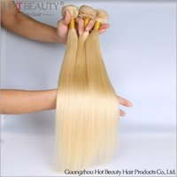 beauty color hair - New Arrival A Russian Virgin hair Blonde Color Silky Straight remy Hair Hot Beauty Hair Product