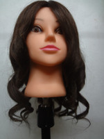 Wholesale Real Human Hair Salon Hairdressing Training Head Mannequin