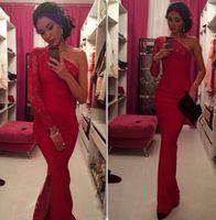 Cheap 2015 Burgundy One Shoudle Best Evening dress