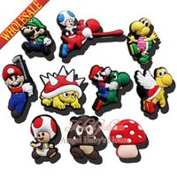 band mario - Hot sale mixed quot Super Mario quot shoe charms Shoe Buckles Accessories Fit Bands Bracelets Croc JIBZ Kids Party Gifts Toys