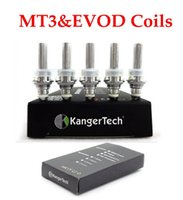Cheap Kangertech Evod mt3 electronic cigarette atomizer heating coils 1.8 2.2 2.5 ohm for Mt3 GS-H2 mini protank T3s