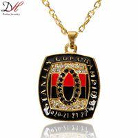 Wholesale Fashion Rhodium Plating ice hockey Team Men s Necklace Championship pendant necklace men jewelry piece