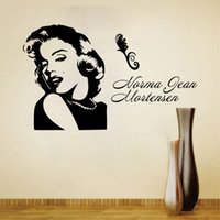 Wholesale Marilyn Monroe Wall Decals for Girl Room Decorations PVC Wall Stickers Quotes Home Decor Photo Wallpaper Wall Art Poster