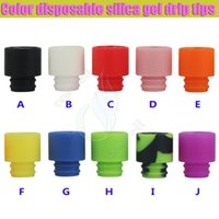 silica - 2016 Color disposable silica gel drip tips huge vaporizer wide bore Mouthpiece dripper tip e cig cigarette atomizer RDA tank Dripping