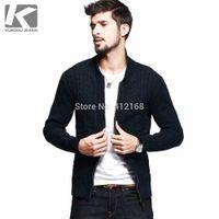 az cotton - AZ Famous Brand KUEGOU Napapijri Cotton Cardigans Autumn Winter New Men s Fashion Casual Long Sleeve