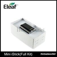 Wholesale Eleaf Mini istick W Full Kit Battery Ismoka Eleaf Mini Istick mAh Capacity Battery With Adjustable Voltage and LED Digtal Screen