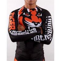 Wholesale new MMA tight sweatshirt Tiger Muay Thai Wear tight fitting long sleeved stretch sweatshirt Muay Thai Boxing