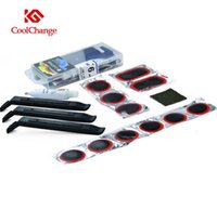 Wholesale New Coolchange Brand Bike Bicycle Flat Tire Repair Kit Tool Set Kit Patch Rubber Portable Fetal Best Quality