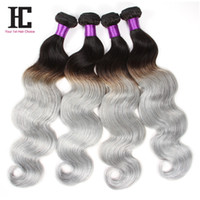 indian remy hair bulk - NEW remy human hair unprocessed Gray body wave ombre hair hair extensions Remy Human Hair ali queen bulk human hair Bundles