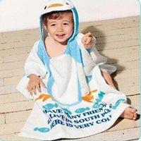 Wholesale Children s bathrobes baby cloak cape cartoon cotton bath robe kids beach towels wear child robe baby bath towel beach gown T3196