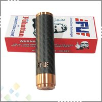 magnets - Vaporizer Fuhattan Red Copper Full Machanical Mods Clone Carbon Fiber Magnet Bottom mods battery tube DHL Free