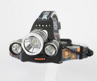 Wholesale 6000Lm Modes CREE XML T6 R5 LED Headlight Headlamp Lamp Light Torch Camping Fishing X4800mAh battery Car EU US charger
