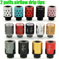 Wholesale 510 Airflow Control Drip Tips types holes huge vaporizer wide bore Mouthpiece dripper tip for e cigs cigarette atomizer RDA tank Dripping