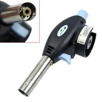 Wholesale G104 Gas Torch Flamethrower Butane Burner Auto Ignition Camping Welding BBQ Outdoor