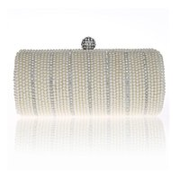 luxury beaded chain suppliers - Fashion Women Lady Bamboo Shape Bag Pearl Evening Clutch Bag Purse Handbag Shoulder bag Wedding Bridal Accessories Supplier