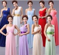 Cheap Under $50 Cheap In Stock Chiffon Bridesmaid Dresses Floor Length A Line Orange Long Prom Dress Zipper Back Sweetheart Bridesmaid Dress