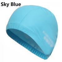 Wholesale 2015 Waterproof PU Material Fabric Sports Siwm Pool Swimming Cap Hat Free size for Men Women Adults