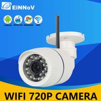 al por mayor cámaras de vigilancia al aire libre inalámbricos para el hogar-Bullet EiNNoV HD 720P 1.0MP cámara exterior de seguridad CCTV IP de WiFi P2P Plug and Play ancha de 3,6 mm Ángulo de Vigilancia de Inicio