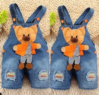 baby boys dungarees - Baby Boy Newborn Denim Jeans One piece Rompers Playsuits Dungarees Overall Pants