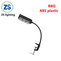 Wholesale 10LED BBQ Adjustable clip on Grill lights for Gas Grill and Electric Grill BBQ LED light clip on table flexible grill light