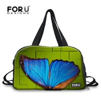 animal luggage sale - 2015 hot sale D print butterfly sport gym bags for women outdoor luggage bag men s travel bags teenagers gym canvas handbag