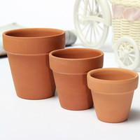 Wholesale 3 Sizes Terracotta Clay Flower Pot for Small Plants Nursery Pots Succulents pots With Holes