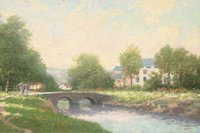 Cheap Thomas Kinkade Oil Paintings Art Print On Canvas no frame. NO.096