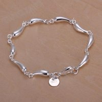 Wholesale new fashion sterling silver water drop bracelets