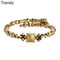 beaded wire jewelry - Alex Ani Bangles Studstruck Wrap Gold Steel Wire Beaded Bracelets With Charms Vintage Antiqued Style Men Women Jewelry AA201563
