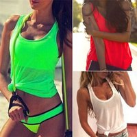 women tank top - New Arrivals Women Lady Vest Shirt Tanks Tops Blouse Chiffon Summer Loose Sleeveless Casual Active DX201