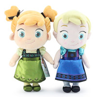Wholesale 2014 Cute Cartoon Frozen Anna Elsa Plush Dolls Kids Childs Plush Toys Stuffed Animals Toy Children s Gift Doll Baby s toy