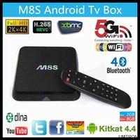 Cheap 2015 New M8 Android Smart TV Box M8S Amlogic S812 Chip AP6330 4K 2GB 8GB XBMC Dual band wifi Full HD Android 4.4 Media Player M8 TV Box 1PCS