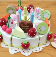 Wholesale New Baby Toy Learning Education Mother Simulation Wooden Garden Strawberry birthday cake Pretend Play and Dress up children toys A7428