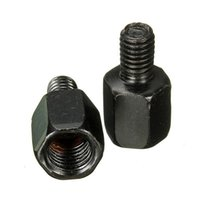 Wholesale Brand New x Black Motorcycle Rear View mm to mm Mirror Adapter Bolts Screw For Yamaha order lt no tracking