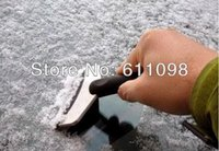 Cheap wholesale winter newest stainless steel ice shovel snow shovel car snow removal tool in winter good helper lot free shippingmn2