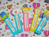 Wholesale Supernova Sales hotsale cute wooden cartoon tempreture meter household thermometer