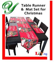 cotton table runner - Christmas table runners cotton with tassels table placemat tablecloth polyester xmas jingle bell elk santa claus Banquet decoration ornament